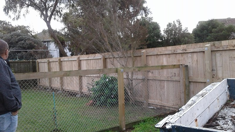 View of the fencing installed by experts
