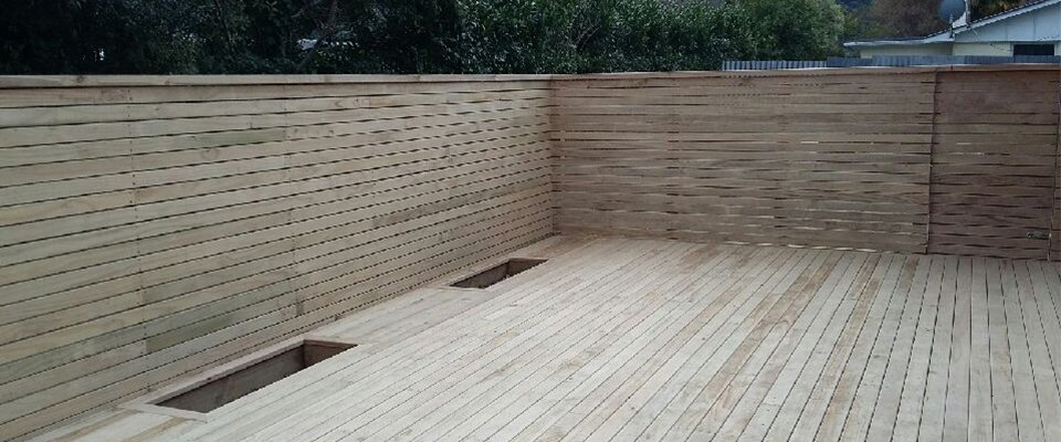 View of a timber fencing done by experts