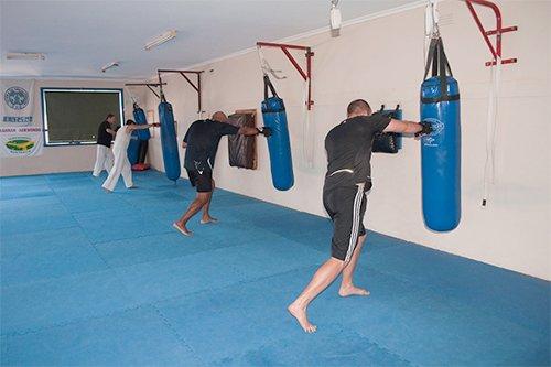 Kick boxing training session