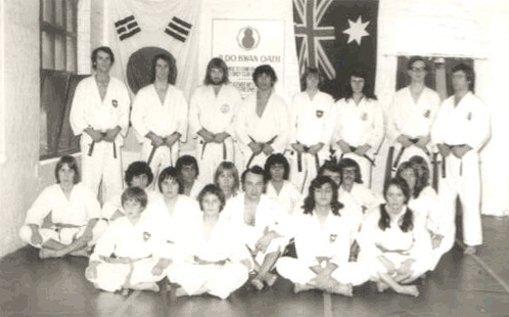 Group of Taekwondo training group