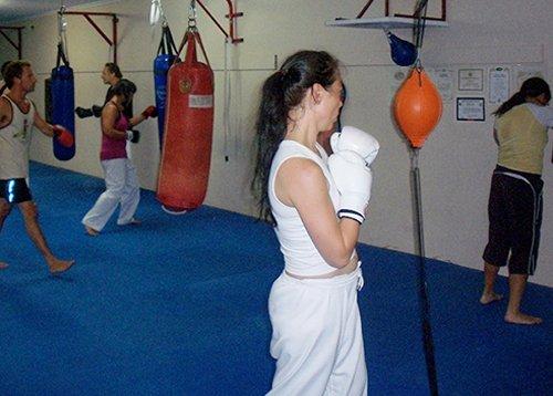 Martial art training in progress