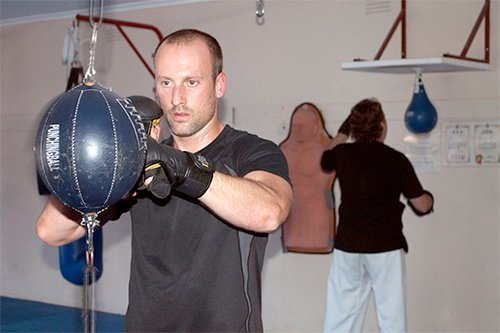 Kick boxing training session