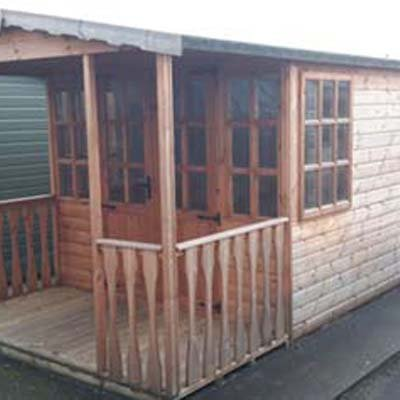 18' X 8' Barton with shed & veranda