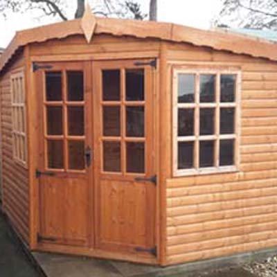 9' X 9' Whytewell Logroll Corner Summerhouse