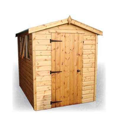 standard apexan apex styled roof fully tongue and grooved shiplap shed ledge and braced door including a lock and key with classic or georgian glazed - Garden Sheds Reading