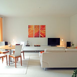 Living room painting and decoration