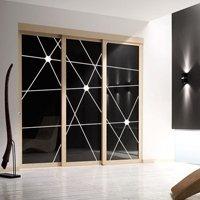 porta in legno con vetro