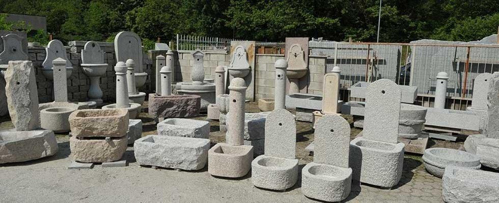 arredo giardino in pietra