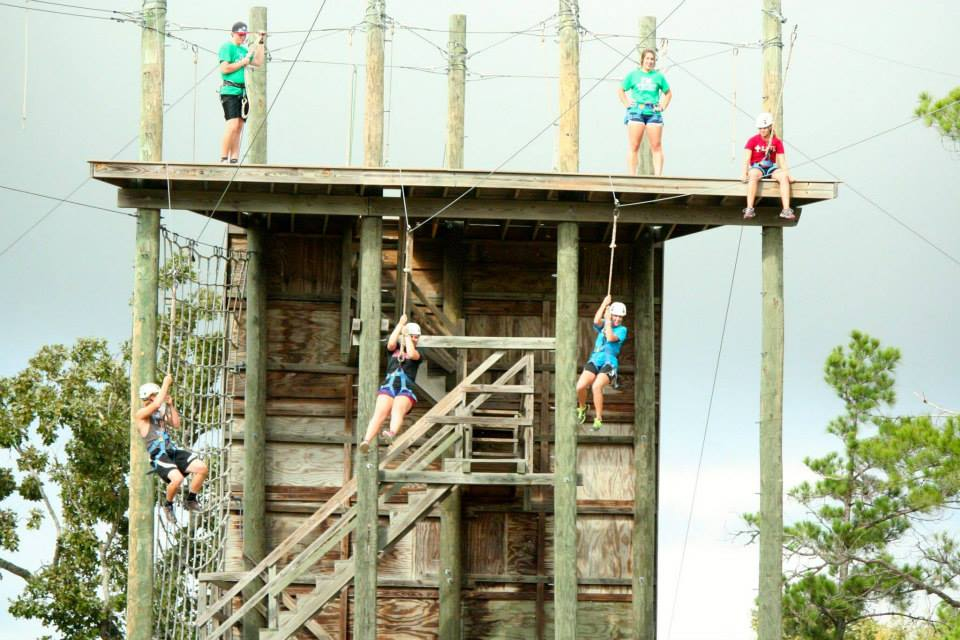 aggies zipline at retreat