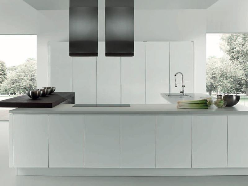 cucina laccata bianca