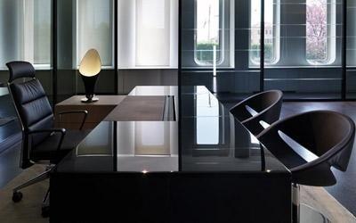 tavolo ufficio laccato nero