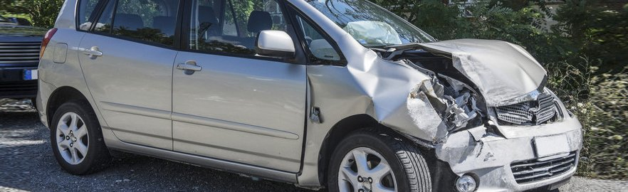 a car that has been in a crash