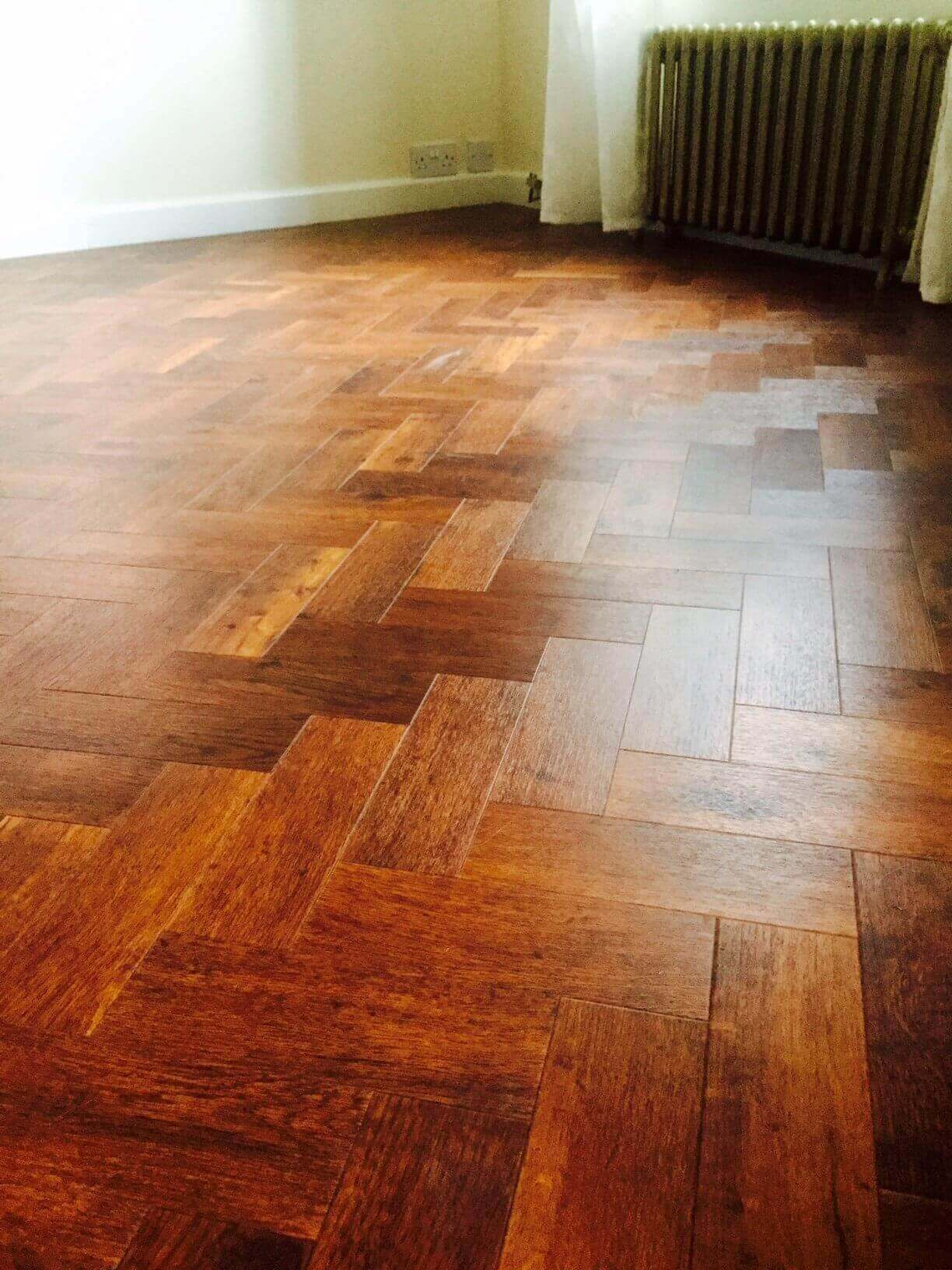 close up parquet flooring