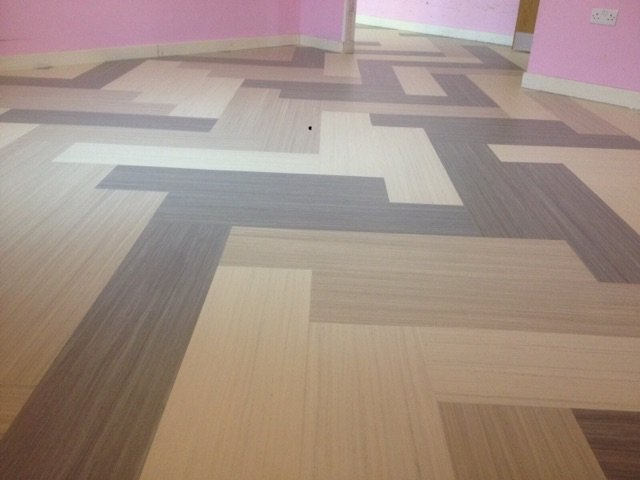 Multi-coloured flooring