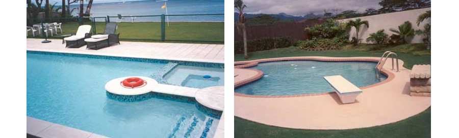 Example of fancy swimming pool designs in Kailua, HI