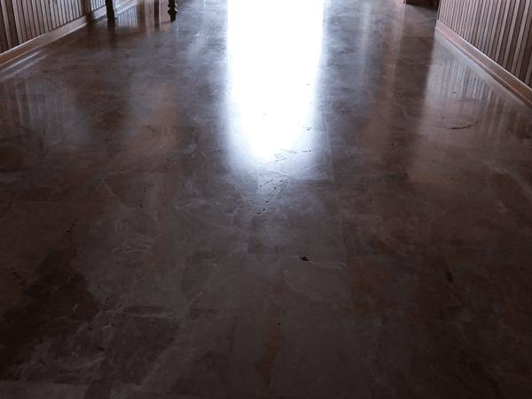 pavimento prima della lucidatura