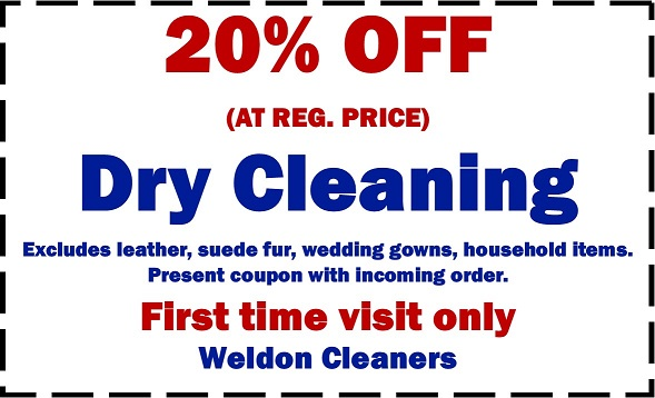 picture relating to Printable Dry Cleaning Coupons known as Weldon Cleaners - GreenEarth Drycleaner in just Overland Park