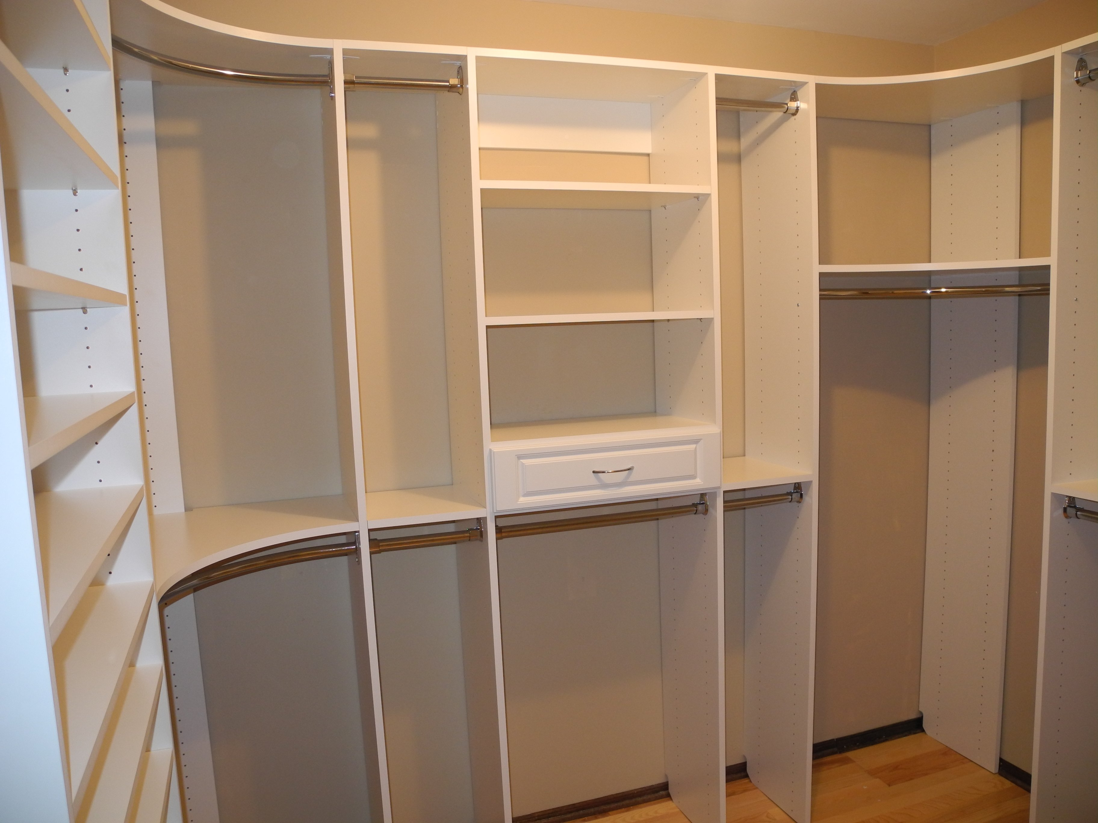 Curved Corner Closet Rods Best Home Decorating Ideas