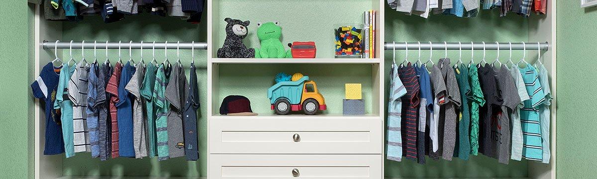 Custom Kids Closet System Installation