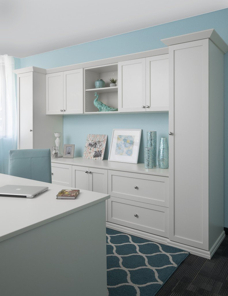 custom home office cabinets. Custom Home Office Cabinets With White Finish I