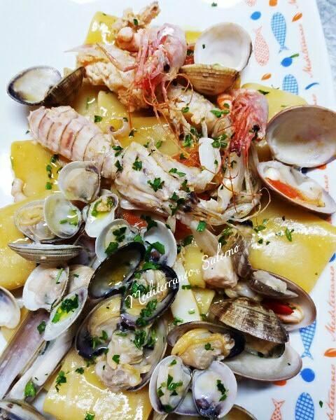 assortimento di frutti di mare