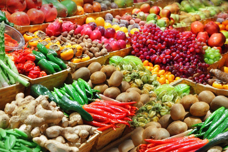 banco di frutta e verdura