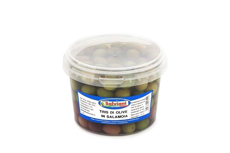 tris olive in salamoia