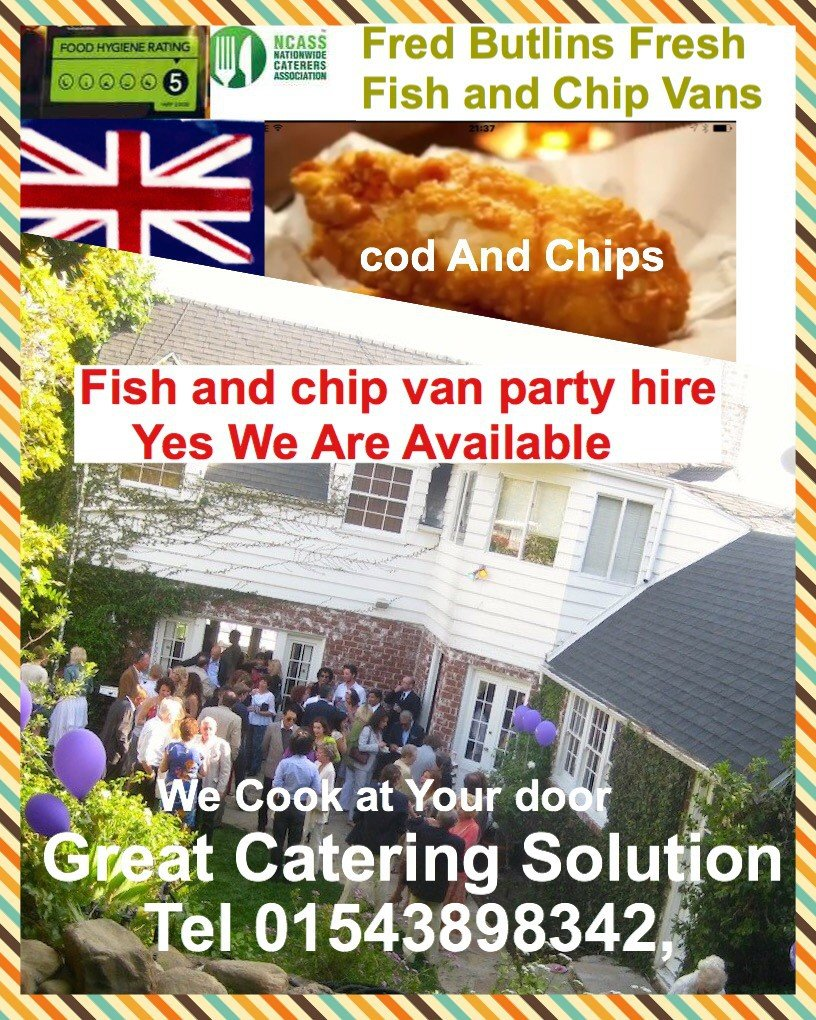 Fish and chips party van hire