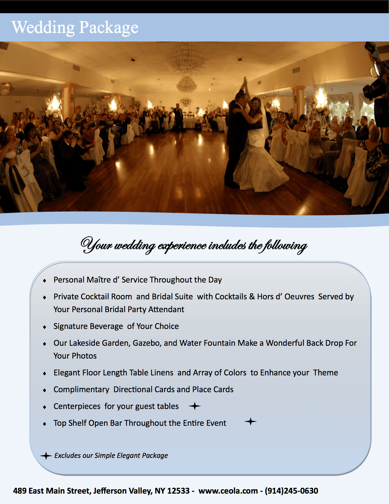 Outdoor Wedding Venues White Plains, NY