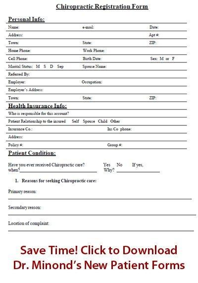 Download Dr. Minond's New Patient Form