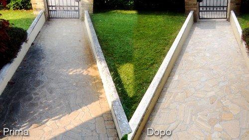 prima e dopo trattamento pavimenti in provincia di Padova