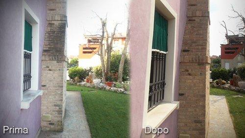 prima e dopo una ristrutturazione effettuata da Buzzarello Fabio in provincia di Padova