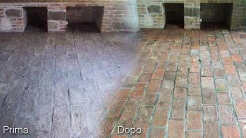 prima e dopo restauro pavimenti in provincia di Padova
