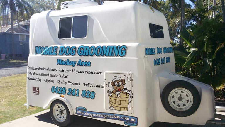 mobile dog grooming trailer