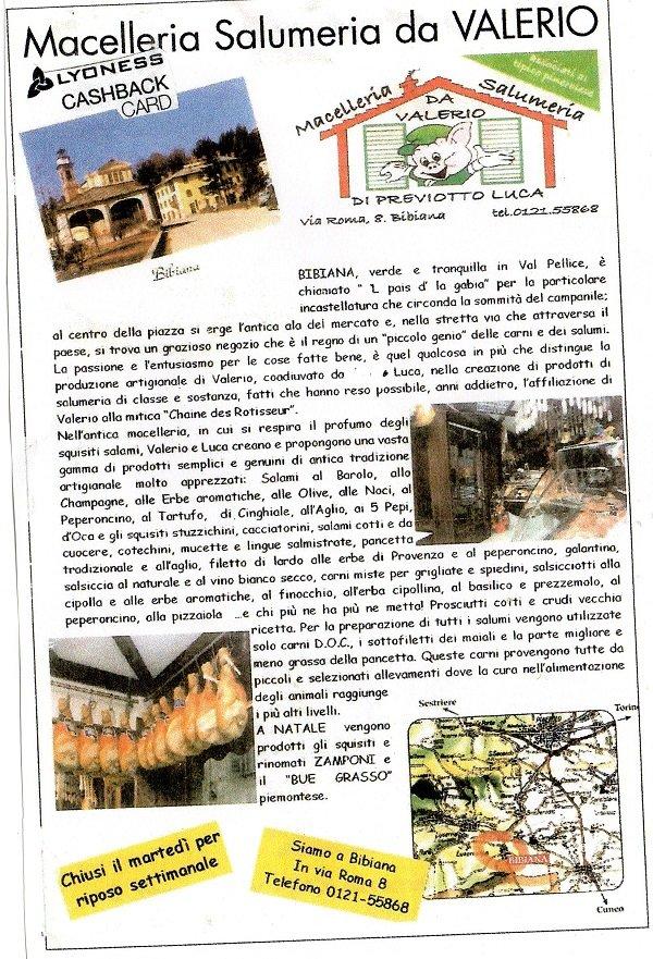 Brochure Macelleria Salumeria da Valerio