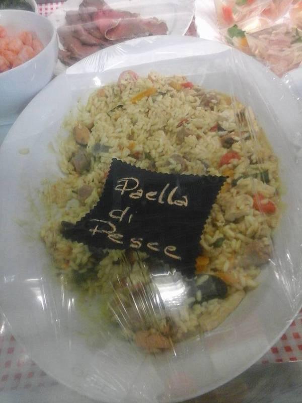 Paella di pesce a Cavour