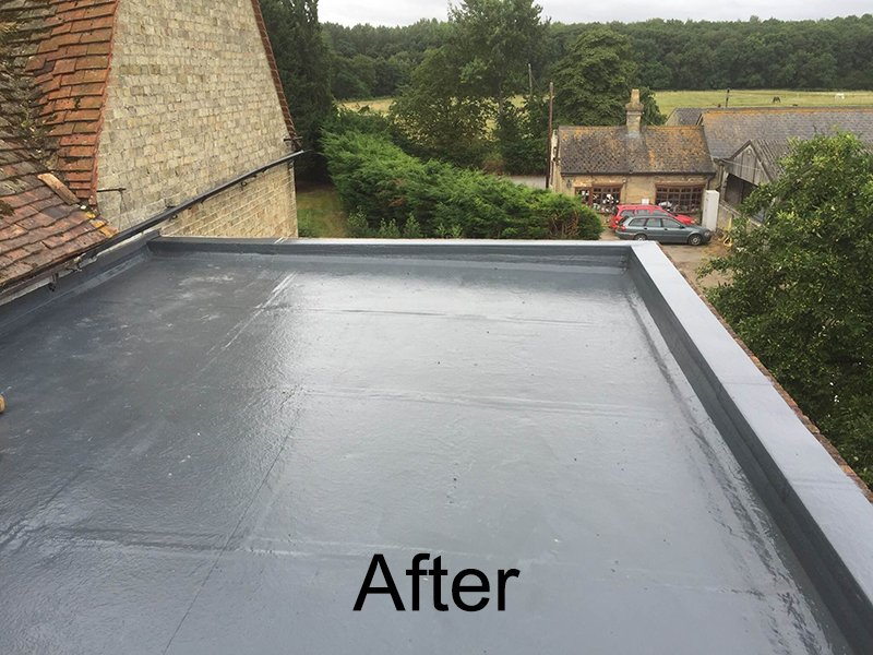 After roof installation