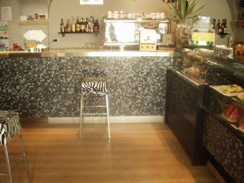 Mosaico Bisazza, bancone bar, Idroceramiche srl, Orbetello