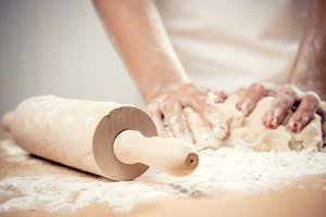 Dough kneeded by hand by Keeley's Kitchen in Surrey