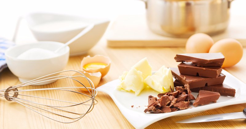 Ingredients for making brownies by Keeley's Kitchen in Surrey