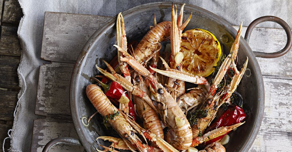 King prawns with roasted lemon and peppers by Keeley's Kitchen in Surrey