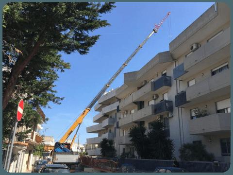 Sollevamento materiali edili