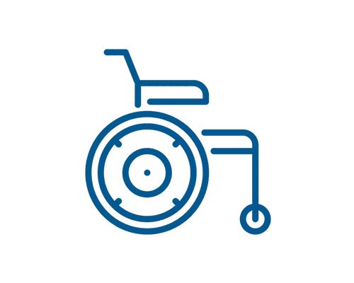 icona sedia a rotelle