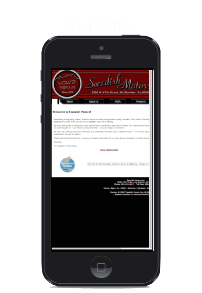 Los Angeles - Mobile website - responsive mobile website design