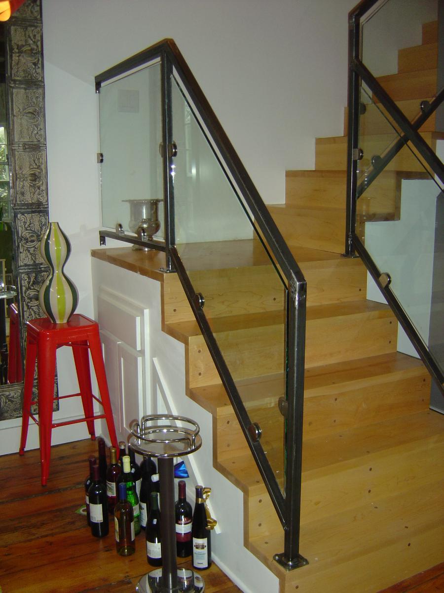 Glass Panel Stair Rail