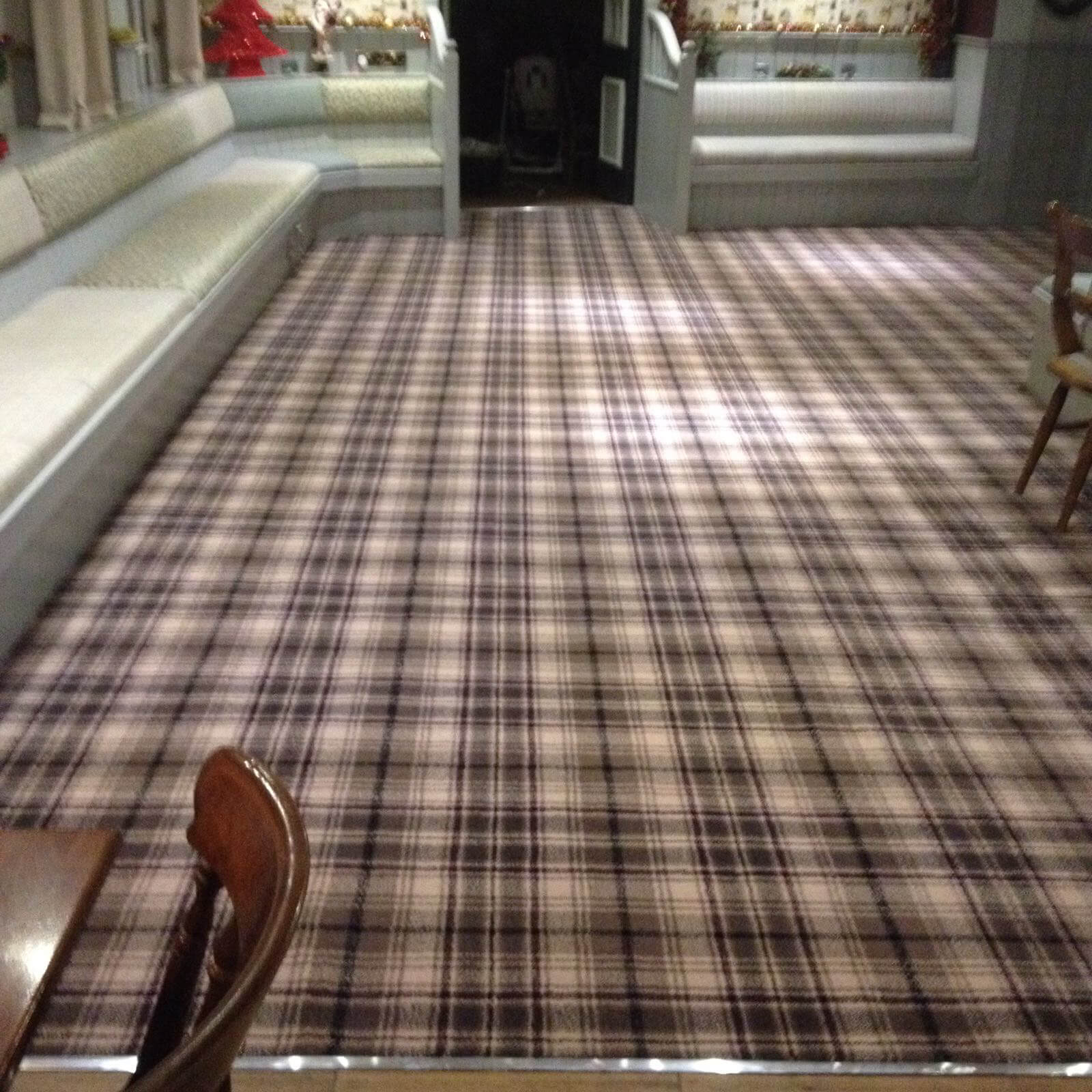 Checked carpet fitted by Northern Floorcraft