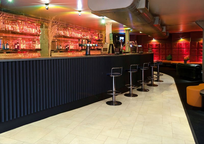 Karndean flooring in bar