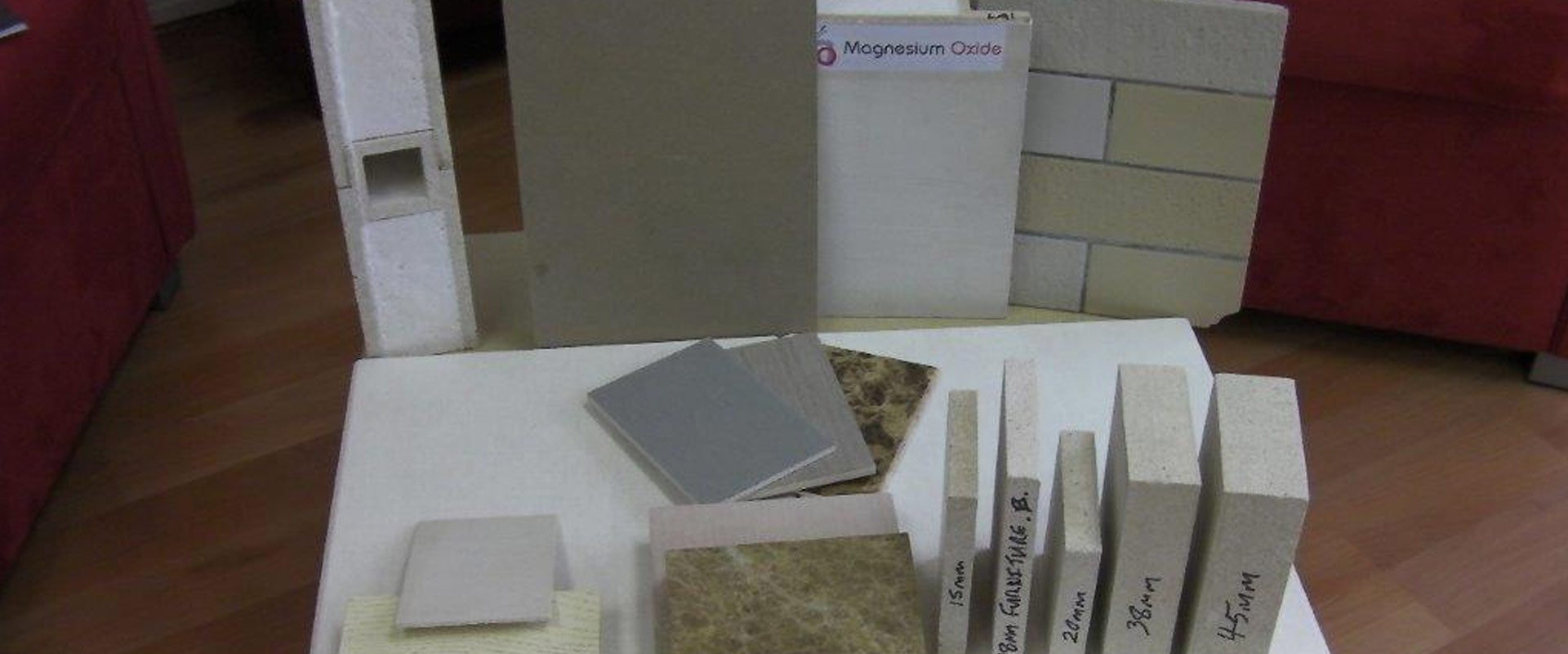 Some of our magnesium oxide boards in Perth