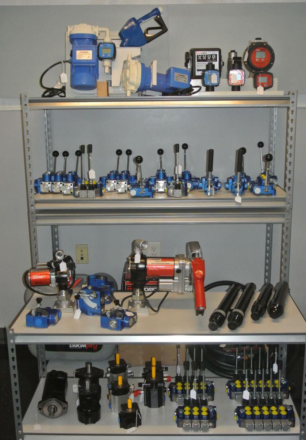 Hydraulic pumps motors valves