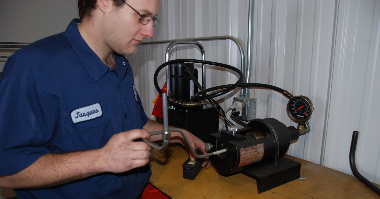 Bending & flaring machine for custom making of hydraulic steel tubing
